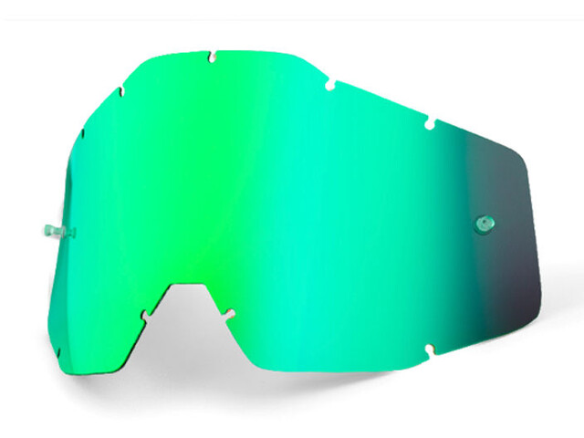 100% Replacement Lenses, green / mirror